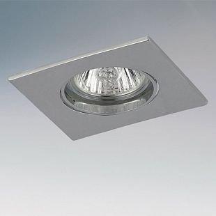Lightstar LEGA11 11954 СветильникКвадратные<br>Встраиваемые светильники – популярное осветительное оборудование, которое можно использовать в качестве основного источника или в дополнение к люстре. Они позволяют создать нужную атмосферу атмосферу и привнести в интерьер уют и комфорт.   Интернет-магазин «Светодом» предлагает стильный встраиваемый светильник Lightstar 11954. Данная модель достаточно универсальна, поэтому подойдет практически под любой интерьер. Перед покупкой не забудьте ознакомиться с техническими параметрами, чтобы узнать тип цоколя, площадь освещения и другие важные характеристики.   Приобрести встраиваемый светильник Lightstar 11954 в нашем онлайн-магазине Вы можете либо с помощью «Корзины», либо по контактным номерам. Мы развозим заказы по Москве, Екатеринбургу и остальным российским городам.<br><br>Тип цоколя: 12В/220В MR11 Gu4 или 220В HP11 GU10<br>Количество ламп: 1<br>MAX мощность ламп, Вт: 50<br>Размеры: Диаметр врезного отверстия<br>Цвет арматуры: серебристый
