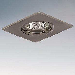 Lightstar LEGA11 11955 СветильникКвадратные<br>Встраиваемые светильники – популярное осветительное оборудование, которое можно использовать в качестве основного источника или в дополнение к люстре. Они позволяют создать нужную атмосферу атмосферу и привнести в интерьер уют и комфорт.   Интернет-магазин «Светодом» предлагает стильный встраиваемый светильник Lightstar 11955. Данная модель достаточно универсальна, поэтому подойдет практически под любой интерьер. Перед покупкой не забудьте ознакомиться с техническими параметрами, чтобы узнать тип цоколя, площадь освещения и другие важные характеристики.   Приобрести встраиваемый светильник Lightstar 11955 в нашем онлайн-магазине Вы можете либо с помощью «Корзины», либо по контактным номерам. Мы развозим заказы по Москве, Екатеринбургу и остальным российским городам.<br><br>Тип цоколя: 12В/220В MR11 Gu4 или 220В HP11 GU10<br>Количество ламп: 1<br>MAX мощность ламп, Вт: 50<br>Размеры: Диаметр врезного отверстия<br>Цвет арматуры: серебристый