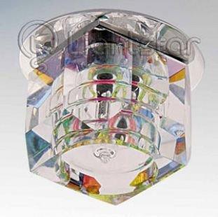 Lightstar ROMB 4061 СветильникХрустальные<br>Встраиваемые светильники – популярное осветительное оборудование, которое можно использовать в качестве основного источника или в дополнение к люстре. Они позволяют создать нужную атмосферу атмосферу и привнести в интерьер уют и комфорт.   Интернет-магазин «Светодом» предлагает стильный встраиваемый светильник Lightstar 4061. Данная модель достаточно универсальна, поэтому подойдет практически под любой интерьер. Перед покупкой не забудьте ознакомиться с техническими параметрами, чтобы узнать тип цоколя, площадь освещения и другие важные характеристики.   Приобрести встраиваемый светильник Lightstar 4061 в нашем онлайн-магазине Вы можете либо с помощью «Корзины», либо по контактным номерам. Мы развозим заказы по Москве, Екатеринбургу и остальным российским городам.<br><br>Тип лампы: галогенная/LED<br>Тип цоколя: G4<br>Цвет арматуры: серебристый<br>Количество ламп: 1<br>Размеры: Диаметр вырезного отверстия<br>MAX мощность ламп, Вт: 35