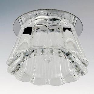 Встраиваемый светильник Lightstar 4104 FACCIВстраиваемые хрустальные светильники<br>Встраиваемые светильники – популярное осветительное оборудование, которое можно использовать в качестве основного источника или в дополнение к люстре. Они позволяют создать нужную атмосферу атмосферу и привнести в интерьер уют и комфорт.   Интернет-магазин «Светодом» предлагает стильный встраиваемый светильник Lightstar 4104. Данная модель достаточно универсальна, поэтому подойдет практически под любой интерьер. Перед покупкой не забудьте ознакомиться с техническими параметрами, чтобы узнать тип цоколя, площадь освещения и другие важные характеристики.   Приобрести встраиваемый светильник Lightstar 4104 в нашем онлайн-магазине Вы можете либо с помощью «Корзины», либо по контактным номерам. Мы развозим заказы по Москве, Екатеринбургу и остальным российским городам.<br><br>Тип цоколя: Gu5.3<br>Цвет арматуры: серебристый хром<br>Количество ламп: 1<br>Размеры: D 50 H 50 Высота встраиваемой части 30 Диаметр врезного отверстия  55<br>MAX мощность ламп, Вт: 50W 12V/220
