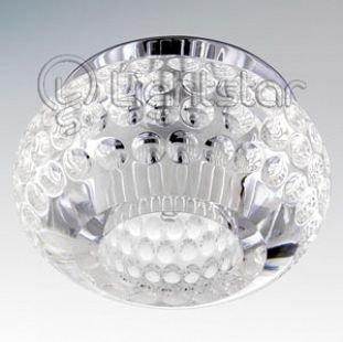 Lightstar BOLLA 4150 СветильникХрустальные<br><br><br>Тип товара: Светильник<br>Тип лампы: галогенная/LED<br>Тип цоколя: G5.3<br>Количество ламп: 1<br>MAX мощность ламп, Вт: 50<br>Размеры: Диаметр вырезного отверстия<br>Цвет арматуры: серебристый