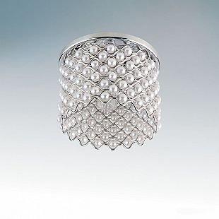 Lightstar PERLA 4364 СветильникХрустальные<br><br><br>Тип товара: Светильник<br>Тип цоколя: G9<br>Количество ламп: 1<br>MAX мощность ламп, Вт: 40<br>Размеры: D 75 H 55, диаметр встраиваемой части 40, врезной диаметр 45<br>Цвет арматуры: серебристый
