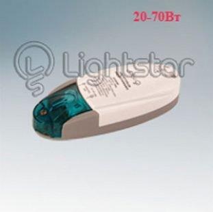 Lightstar MINI 517070 ТрансформаторТрансформаторы 220/12<br><br><br>Ширина, мм: 42<br>MAX мощность ламп, Вт: 70<br>Размеры: (мм)<br>Длина, мм: 109<br>Высота, мм: 24