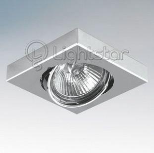 Lightstar MATTONI 6244 СветильникКвадратные<br>Встраиваемые светильники – популярное осветительное оборудование, которое можно использовать в качестве основного источника или в дополнение к люстре. Они позволяют создать нужную атмосферу атмосферу и привнести в интерьер уют и комфорт.   Интернет-магазин «Светодом» предлагает стильный встраиваемый светильник Lightstar 6244. Данная модель достаточно универсальна, поэтому подойдет практически под любой интерьер. Перед покупкой не забудьте ознакомиться с техническими параметрами, чтобы узнать тип цоколя, площадь освещения и другие важные характеристики.   Приобрести встраиваемый светильник Lightstar 6244 в нашем онлайн-магазине Вы можете либо с помощью «Корзины», либо по контактным номерам. Мы развозим заказы по Москве, Екатеринбургу и остальным российским городам.<br><br>Тип лампы: галогенная/LED<br>Тип цоколя: MR16 / gu5.3 / GU10<br>Количество ламп: 1<br>MAX мощность ламп, Вт: 50<br>Размеры: Диаметр вырезного отверстия