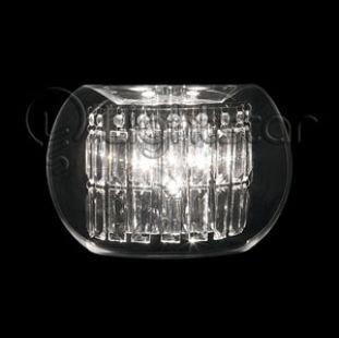 Lightstar ACQUARIO 753634 Светильник настенный браХай-тек<br><br><br>S освещ. до, м2: 12<br>Крепление: настенное<br>Тип лампы: галогенная / LED-светодиодная<br>Тип цоколя: G4<br>Количество ламп: 3<br>Ширина, мм: 300<br>MAX мощность ламп, Вт: 20<br>Размеры: W 300 H 200 B 150<br>Расстояние от стены, мм: 150<br>Высота, мм: 230<br>Цвет арматуры: серебристый