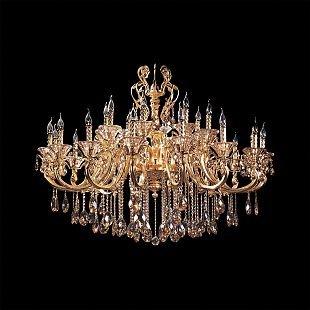 Хрустальная люстра Lightstar 786242 AMPOLLOснятые с производства светильники<br>Люстра из коллекции Ampollo– яркий представитель неувядающей классики. Множество позолоченных рожков с элегантными завитками и элементами флористики придают светильнику торжественности. Хрустальные чаши, бусы и подвески добавляют роскоши и алмазного свечения. Множество источников света подарят яркое освещение. Люстра прекрасно впишется в большой холл в классическом стиле.<br><br>Тип цоколя: E14<br>Цвет арматуры: золото<br>Количество ламп: 24<br>Размеры: D 1150 H 1400-2400<br>MAX мощность ламп, Вт: 60W