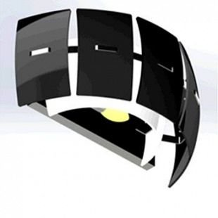 Lightstar LAMELLA 801627 Светильник настенный браХай-тек<br><br><br>Тип цоколя: E14<br>Количество ламп: 2<br>MAX мощность ламп, Вт: 40<br>Оттенок (цвет): ЧЕРНЫЙ<br>Цвет арматуры: серебристый
