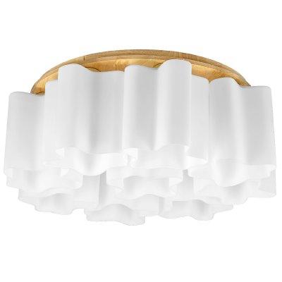 Люстра потолочная Lightstar 802095 Nubi legnoсовременные потолочные люстры<br>Люстра Lightstar 802095 NUBI LEGNO сделает Ваш интерьер современным, стильным и запоминающимся! Наиболее функционально и эстетически привлекательно модель будет смотреться в гостиной, зале, холле или другой комнате. А в комплекте с настенными бра и торшером из этой же коллекции, сделает интерьер по-дизайнерски профессиональным и законченным.