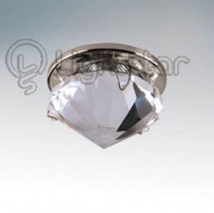 Светильник Lightstar 9004 DIAMANDХрустальные<br>Встраиваемые светильники – популярное осветительное оборудование, которое можно использовать в качестве основного источника или в дополнение к люстре. Они позволяют создать нужную атмосферу атмосферу и привнести в интерьер уют и комфорт.   Интернет-магазин «Светодом» предлагает стильный встраиваемый светильник Lightstar 9004. Данная модель достаточно универсальна, поэтому подойдет практически под любой интерьер. Перед покупкой не забудьте ознакомиться с техническими параметрами, чтобы узнать тип цоколя, площадь освещения и другие важные характеристики.   Приобрести встраиваемый светильник Lightstar 9004 в нашем онлайн-магазине Вы можете либо с помощью «Корзины», либо по контактным номерам. Мы развозим заказы по Москве, Екатеринбургу и остальным российским городам.<br><br>Тип лампы: галогенная/LED<br>Тип цоколя: MR16 / gu5.3 / GU10<br>Цвет арматуры: серебристый<br>Количество ламп: 1<br>Размеры: Диаметр  врезного отверстия<br>MAX мощность ламп, Вт: 50