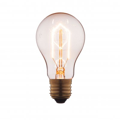 Ретро лампа Loft it 1002Ретро лампы<br>В интернет-магазине «Светодом» можно купить не только люстры и светильники, но и лампочки. В нашем каталоге представлены светодиодные, галогенные, энергосберегающие модели и лампы накаливания. В ассортименте имеются изделия разной мощности, поэтому у нас Вы сможете приобрести все необходимое для освещения. <br> Лампа Loft it 1002 обеспечит отличное качество освещения. При покупке ознакомьтесь с параметрами в разделе «Характеристики», чтобы не ошибиться в выборе. Там же указано, для каких осветительных приборов Вы можете использовать лампу Loft it 1002Loft it 1002. <br> Для оформления покупки воспользуйтесь «Корзиной». При наличии вопросов Вы можете позвонить нашим менеджерам по одному из контактных номеров. Мы доставляем заказы в Москву, Екатеринбург и другие города России.<br><br>Тип цоколя: E27<br>MAX мощность ламп, Вт: 60