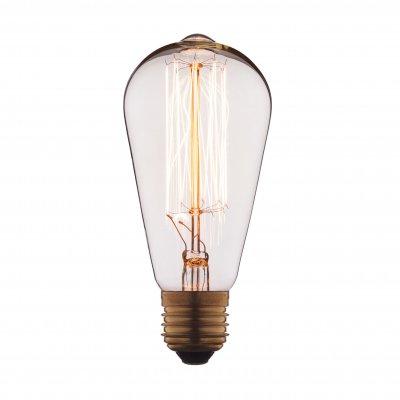Ретро лампа Loft it 1007Лампы накаливания ретро стиля<br>В интернет-магазине «Светодом» можно купить не только люстры и светильники, но и лампочки. В нашем каталоге представлены светодиодные, галогенные, энергосберегающие модели и лампы накаливания. В ассортименте имеются изделия разной мощности, поэтому у нас Вы сможете приобрести все необходимое для освещения. <br> Лампа Loft it 1007 обеспечит отличное качество освещения. При покупке ознакомьтесь с параметрами в разделе «Характеристики», чтобы не ошибиться в выборе. Там же указано, для каких осветительных приборов Вы можете использовать лампу Loft it 1007Loft it 1007. <br> Для оформления покупки воспользуйтесь «Корзиной». При наличии вопросов Вы можете позвонить нашим менеджерам по одному из контактных номеров. Мы доставляем заказы в Москву, Екатеринбург и другие города России.<br><br>Тип цоколя: E27<br>MAX мощность ламп, Вт: 40