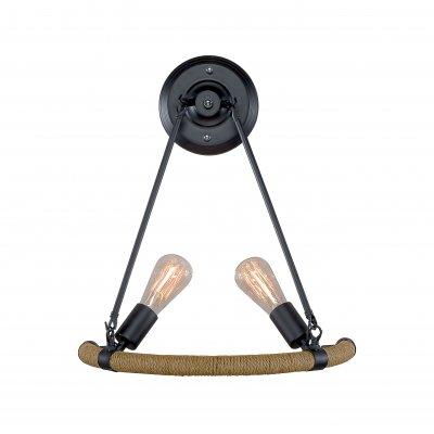 Настенный светильник бра Loft it 1861WЛофт<br><br><br>Цвет арматуры: Коричневый состаренный/ пеньковый канат