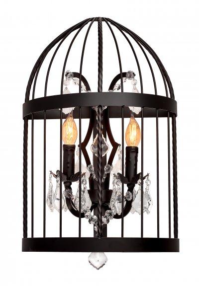 Настенный светильник бра Loft it 1891WЛофт<br><br><br>Цвет арматуры: черный матовый