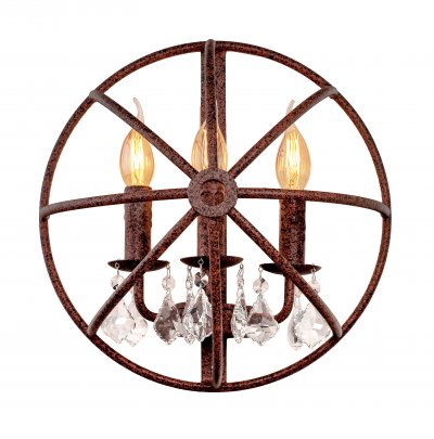 Настенный светильник бра Loft it 1897Wбра в стиле лофт<br><br><br>Цвет арматуры: Коричневый состаренный