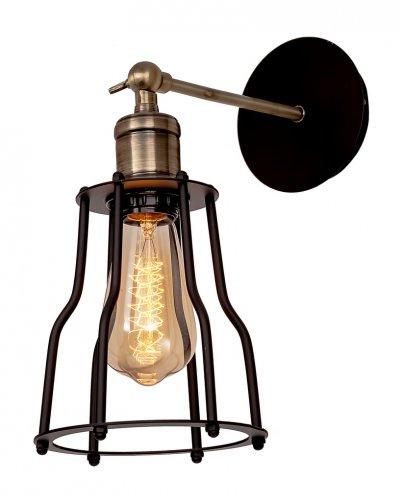 Настенный светильник бра Loft it 2105Wбра в стиле лофт<br><br><br>Цвет арматуры: черный матвый