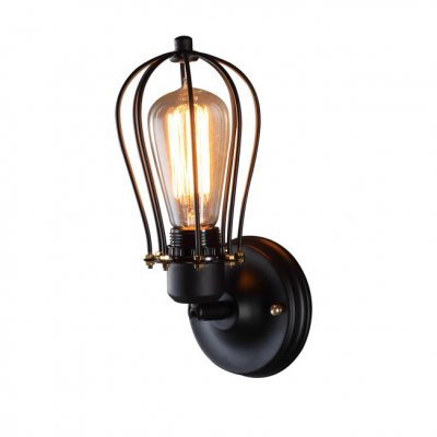 Настенный светильник бра Loft it 2106Wбра в стиле лофт<br><br><br>Цвет арматуры: черный матовый