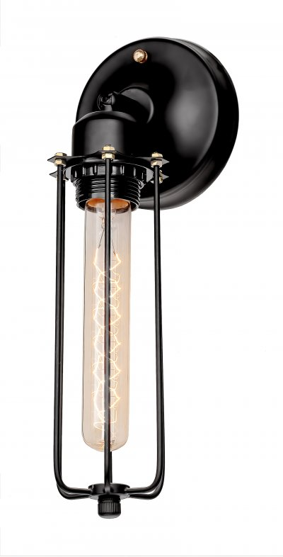 Настенный светильник бра Loft it 2108WЛофт<br><br><br>Цвет арматуры: черный матовый