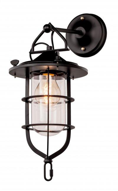 Настенный светильник бра Loft it 2116Wбра в стиле лофт<br><br><br>Цвет арматуры: черный матовый