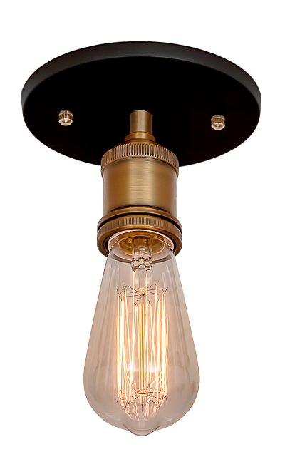 Потолочный светильник Loft it 3103Cпотолочные люстры лофт<br>Компания «Светодом» предлагает широкий ассортимент люстр от известных производителей. Представленные в нашем каталоге товары выполнены из современных материалов и обладают отличным качеством. Благодаря широкому ассортименту Вы сможете найти у нас люстру под любой интерьер. Мы предлагаем как классические варианты, так и современные модели, отличающиеся лаконичностью и простотой форм.  Стильная люстра Divinare 5001/01 PL-5 станет украшением любого дома. Эта модель от известного производителя не оставит равнодушным ценителей красивых и оригинальных предметов интерьера. Люстра Divinare 5001/01 PL-5 обеспечит равномерное распределение света по всей комнате. При выборе обратите внимание на характеристики, позволяющие приобрести наиболее подходящую модель. Купить понравившуюся люстру по доступной цене Вы можете в интернет-магазине «Светодом». Мы предлагаем доставку не только по Москве и Екатеринбурге, но и по всей России.<br><br>Установка на натяжной потолок: Да<br>S освещ. до, м2: 3<br>Тип цоколя: E27<br>Цвет арматуры: черный матовый/ бронза<br>Количество ламп: 1<br>Диаметр, мм мм: 100<br>Высота, мм: 300<br>MAX мощность ламп, Вт: 60
