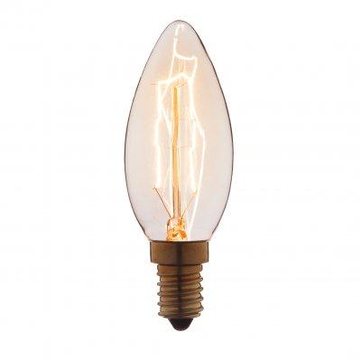 Ретро лампа Loft it 3525Ретро лампы<br>В интернет-магазине «Светодом» можно купить не только люстры и светильники, но и лампочки. В нашем каталоге представлены светодиодные, галогенные, энергосберегающие модели и лампы накаливания. В ассортименте имеются изделия разной мощности, поэтому у нас Вы сможете приобрести все необходимое для освещения. <br> Лампа Loft it 3525 обеспечит отличное качество освещения. При покупке ознакомьтесь с параметрами в разделе «Характеристики», чтобы не ошибиться в выборе. Там же указано, для каких осветительных приборов Вы можете использовать лампу Loft it 3525Loft it 3525. <br> Для оформления покупки воспользуйтесь «Корзиной». При наличии вопросов Вы можете позвонить нашим менеджерам по одному из контактных номеров. Мы доставляем заказы в Москву, Екатеринбург и другие города России.<br><br>Тип цоколя: E14<br>MAX мощность ламп, Вт: 25
