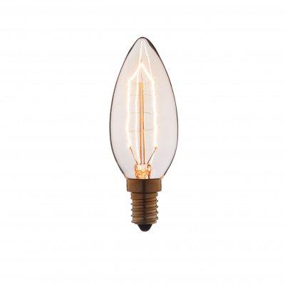 Ретро лампа Loft it 3540-GРетро лампы<br>В интернет-магазине «Светодом» можно купить не только люстры и светильники, но и лампочки. В нашем каталоге представлены светодиодные, галогенные, энергосберегающие модели и лампы накаливания. В ассортименте имеются изделия разной мощности, поэтому у нас Вы сможете приобрести все необходимое для освещения. <br> Лампа Loft it 3540-G обеспечит отличное качество освещения. При покупке ознакомьтесь с параметрами в разделе «Характеристики», чтобы не ошибиться в выборе. Там же указано, для каких осветительных приборов Вы можете использовать лампу Loft it 3540-GLoft it 3540-G. <br> Для оформления покупки воспользуйтесь «Корзиной». При наличии вопросов Вы можете позвонить нашим менеджерам по одному из контактных номеров. Мы доставляем заказы в Москву, Екатеринбург и другие города России.<br><br>Тип цоколя: E14<br>MAX мощность ламп, Вт: 40