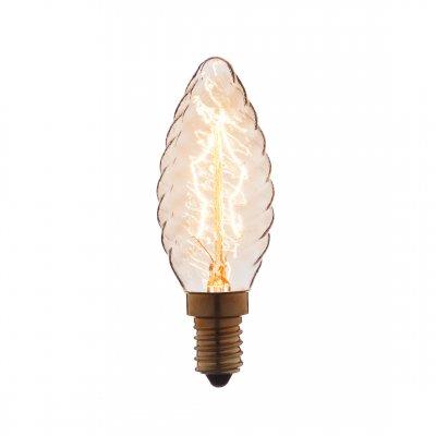 Ретро лампа Loft it 3540-LTЛампы накаливания ретро стиля<br>В интернет-магазине «Светодом» можно купить не только люстры и светильники, но и лампочки. В нашем каталоге представлены светодиодные, галогенные, энергосберегающие модели и лампы накаливания. В ассортименте имеются изделия разной мощности, поэтому у нас Вы сможете приобрести все необходимое для освещения. <br> Лампа Loft it 3540-LT обеспечит отличное качество освещения. При покупке ознакомьтесь с параметрами в разделе «Характеристики», чтобы не ошибиться в выборе. Там же указано, для каких осветительных приборов Вы можете использовать лампу Loft it 3540-LTLoft it 3540-LT. <br> Для оформления покупки воспользуйтесь «Корзиной». При наличии вопросов Вы можете позвонить нашим менеджерам по одному из контактных номеров. Мы доставляем заказы в Москву, Екатеринбург и другие города России.<br><br>Тип цоколя: E14<br>MAX мощность ламп, Вт: 40