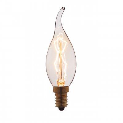 Ретро лампа Loft it 3540-TWРетро лампы<br>В интернет-магазине «Светодом» можно купить не только люстры и светильники, но и лампочки. В нашем каталоге представлены светодиодные, галогенные, энергосберегающие модели и лампы накаливания. В ассортименте имеются изделия разной мощности, поэтому у нас Вы сможете приобрести все необходимое для освещения. <br> Лампа Loft it 3540-TW обеспечит отличное качество освещения. При покупке ознакомьтесь с параметрами в разделе «Характеристики», чтобы не ошибиться в выборе. Там же указано, для каких осветительных приборов Вы можете использовать лампу Loft it 3540-TWLoft it 3540-TW. <br> Для оформления покупки воспользуйтесь «Корзиной». При наличии вопросов Вы можете позвонить нашим менеджерам по одному из контактных номеров. Мы доставляем заказы в Москву, Екатеринбург и другие города России.<br><br>Тип цоколя: E14<br>MAX мощность ламп, Вт: 40