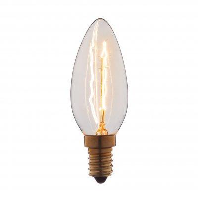 Ретро лампа Loft it 3540Лампы накаливания ретро стиля<br>В интернет-магазине «Светодом» можно купить не только люстры и светильники, но и лампочки. В нашем каталоге представлены светодиодные, галогенные, энергосберегающие модели и лампы накаливания. В ассортименте имеются изделия разной мощности, поэтому у нас Вы сможете приобрести все необходимое для освещения. <br> Лампа Loft it 3540 обеспечит отличное качество освещения. При покупке ознакомьтесь с параметрами в разделе «Характеристики», чтобы не ошибиться в выборе. Там же указано, для каких осветительных приборов Вы можете использовать лампу Loft it 3540Loft it 3540. <br> Для оформления покупки воспользуйтесь «Корзиной». При наличии вопросов Вы можете позвонить нашим менеджерам по одному из контактных номеров. Мы доставляем заказы в Москву, Екатеринбург и другие города России.<br><br>Тип цоколя: E14<br>MAX мощность ламп, Вт: 40