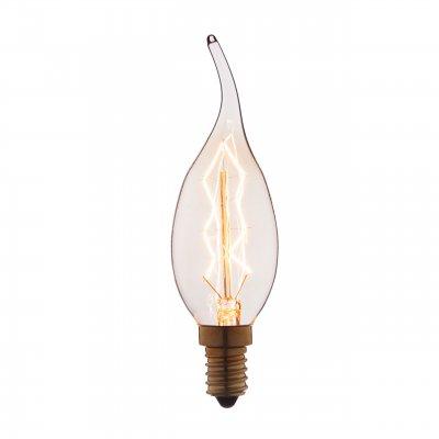 Ретро лампа Loft it 3560-TWЛампы накаливания ретро стиля<br>В интернет-магазине «Светодом» можно купить не только люстры и светильники, но и лампочки. В нашем каталоге представлены светодиодные, галогенные, энергосберегающие модели и лампы накаливания. В ассортименте имеются изделия разной мощности, поэтому у нас Вы сможете приобрести все необходимое для освещения. <br> Лампа Loft it 3560-TW обеспечит отличное качество освещения. При покупке ознакомьтесь с параметрами в разделе «Характеристики», чтобы не ошибиться в выборе. Там же указано, для каких осветительных приборов Вы можете использовать лампу Loft it 3560-TWLoft it 3560-TW. <br> Для оформления покупки воспользуйтесь «Корзиной». При наличии вопросов Вы можете позвонить нашим менеджерам по одному из контактных номеров. Мы доставляем заказы в Москву, Екатеринбург и другие города России.<br><br>Тип цоколя: E14<br>MAX мощность ламп, Вт: 60