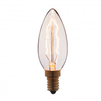 Ретро лампа Loft it 3560Лампы накаливания ретро стиля<br>В интернет-магазине «Светодом» можно купить не только люстры и светильники, но и лампочки. В нашем каталоге представлены светодиодные, галогенные, энергосберегающие модели и лампы накаливания. В ассортименте имеются изделия разной мощности, поэтому у нас Вы сможете приобрести все необходимое для освещения. <br> Лампа Loft it 3560 обеспечит отличное качество освещения. При покупке ознакомьтесь с параметрами в разделе «Характеристики», чтобы не ошибиться в выборе. Там же указано, для каких осветительных приборов Вы можете использовать лампу Loft it 3560Loft it 3560. <br> Для оформления покупки воспользуйтесь «Корзиной». При наличии вопросов Вы можете позвонить нашим менеджерам по одному из контактных номеров. Мы доставляем заказы в Москву, Екатеринбург и другие города России.<br><br>Тип цоколя: E14<br>MAX мощность ламп, Вт: 60