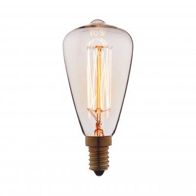 Ретро лампа Loft it 4840-FЛампы накаливания ретро стиля<br>В интернет-магазине «Светодом» можно купить не только люстры и светильники, но и лампочки. В нашем каталоге представлены светодиодные, галогенные, энергосберегающие модели и лампы накаливания. В ассортименте имеются изделия разной мощности, поэтому у нас Вы сможете приобрести все необходимое для освещения. <br> Лампа Loft it 4840-F обеспечит отличное качество освещения. При покупке ознакомьтесь с параметрами в разделе «Характеристики», чтобы не ошибиться в выборе. Там же указано, для каких осветительных приборов Вы можете использовать лампу Loft it 4840-FLoft it 4840-F. <br> Для оформления покупки воспользуйтесь «Корзиной». При наличии вопросов Вы можете позвонить нашим менеджерам по одному из контактных номеров. Мы доставляем заказы в Москву, Екатеринбург и другие города России.<br><br>Тип цоколя: E14<br>MAX мощность ламп, Вт: 40