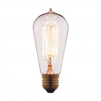Ретро лампа Loft it 6440-SCЛампы накаливания ретро стиля<br>В интернет-магазине «Светодом» можно купить не только люстры и светильники, но и лампочки. В нашем каталоге представлены светодиодные, галогенные, энергосберегающие модели и лампы накаливания. В ассортименте имеются изделия разной мощности, поэтому у нас Вы сможете приобрести все необходимое для освещения. <br> Лампа Loft it 6440-SC обеспечит отличное качество освещения. При покупке ознакомьтесь с параметрами в разделе «Характеристики», чтобы не ошибиться в выборе. Там же указано, для каких осветительных приборов Вы можете использовать лампу Loft it 6440-SCLoft it 6440-SC. <br> Для оформления покупки воспользуйтесь «Корзиной». При наличии вопросов Вы можете позвонить нашим менеджерам по одному из контактных номеров. Мы доставляем заказы в Москву, Екатеринбург и другие города России.<br><br>Тип цоколя: E27<br>MAX мощность ламп, Вт: 40