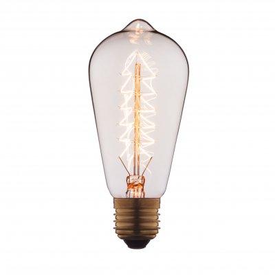 Ретро лампа Loft it 6440-SЛампы накаливания ретро стиля<br>В интернет-магазине «Светодом» можно купить не только люстры и светильники, но и лампочки. В нашем каталоге представлены светодиодные, галогенные, энергосберегающие модели и лампы накаливания. В ассортименте имеются изделия разной мощности, поэтому у нас Вы сможете приобрести все необходимое для освещения. <br> Лампа Loft it 6440-S обеспечит отличное качество освещения. При покупке ознакомьтесь с параметрами в разделе «Характеристики», чтобы не ошибиться в выборе. Там же указано, для каких осветительных приборов Вы можете использовать лампу Loft it 6440-SLoft it 6440-S. <br> Для оформления покупки воспользуйтесь «Корзиной». При наличии вопросов Вы можете позвонить нашим менеджерам по одному из контактных номеров. Мы доставляем заказы в Москву, Екатеринбург и другие города России.<br><br>Тип цоколя: E27<br>MAX мощность ламп, Вт: 40