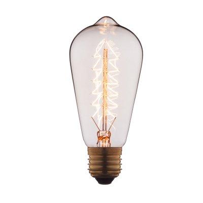 Ретро лампа Loft it 6460-SЛампы накаливания ретро стиля<br>В интернет-магазине «Светодом» можно купить не только люстры и светильники, но и лампочки. В нашем каталоге представлены светодиодные, галогенные, энергосберегающие модели и лампы накаливания. В ассортименте имеются изделия разной мощности, поэтому у нас Вы сможете приобрести все необходимое для освещения. <br> Лампа Loft it 6460-S обеспечит отличное качество освещения. При покупке ознакомьтесь с параметрами в разделе «Характеристики», чтобы не ошибиться в выборе. Там же указано, для каких осветительных приборов Вы можете использовать лампу Loft it 6460-SLoft it 6460-S. <br> Для оформления покупки воспользуйтесь «Корзиной». При наличии вопросов Вы можете позвонить нашим менеджерам по одному из контактных номеров. Мы доставляем заказы в Москву, Екатеринбург и другие города России.<br><br>Тип цоколя: E27<br>MAX мощность ламп, Вт: 60