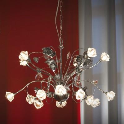 Люстра Lussole LSA-4313-15 BellegraПодвесные<br>Итальянские мастера искусно «сплели» металлическое кружево, превратив его в фейерверк из роз! Пятнадцать лампочек освещают пространство на расстоянии до двадцати квадратных метров, а благодаря тому, что они направлены в разные стороны, свет получается равномерным. Эта люстра идеально подойдет для любителей изысканного и романтичного интерьера!<br><br>Установка на натяжной потолок: Да<br>S освещ. до, м2: 20<br>Крепление: Планка<br>Тип лампы: галогенная / LED-светодиодная<br>Тип цоколя: g4<br>Количество ламп: 15<br>MAX мощность ламп, Вт: 20<br>Диаметр, мм мм: 640<br>Высота, мм: 1100<br>Цвет арматуры: серебристый