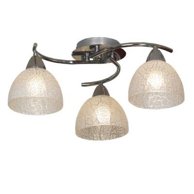 Люстра Lussole lsf-1603-03Потолочные<br>Потолочный светильник Lussole lsf-1603-03 прекрасно подойдет к любому современному интерьеру! Элегантный, стильный, выполненный без «утяжеляющих» конструкцию деталей, он создает не только яркое освещение на площади до 12 кв.м., но и зрительный эффект более высокого потолка, чем есть в действительности. Украшение этой люстры – плафоны «тиффани»: как будто собранные из полупрозрачных кусочков стекла или льдинок, они притягивают к себе взгляд и выглядят очень эффектно и «благородно». Светлые оттенки идеально «впишутся» в любую цветовую гамму интерьера, от однотонной до разноцветной. Дополнят общую линию стиля настенные бра из этой же серии.<br><br>Установка на натяжной потолок: Ограничено<br>S освещ. до, м2: 12<br>Крепление: Планка<br>Тип лампы: накаливания / энергосбережения / LED-светодиодная<br>Тип цоколя: E27<br>Количество ламп: 3<br>MAX мощность ламп, Вт: 60<br>Диаметр, мм мм: 500<br>Высота, мм: 200<br>Цвет арматуры: серебристый