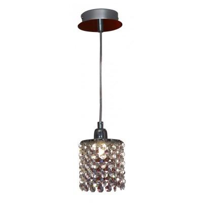 Светильник подвесной Lussole LSJ-0406-01 MONTELETOодиночные подвесные светильники<br>Подвесной светильник Lussole lsj-0406-01 создаст в комнате неповторимую, наполненную красотой и изысканностью, обстановку и станет настоящим украшением Вашего интерьера! Плафон полностью выполнен из хрусталя, и лучи, попадая на множество граней, отражаются в них и создают уникальное, «искрящееся» освещение. Светильник можно использовать в любой цветовой гамме комнаты - он будет прекрасно гармонировать и с яркими и с пастельными тонами. Площадь освещения составляет 3 кв.м., поэтому наиболее функционально использовать этот источник света  в качестве подсветки определенной небольшой зоны помещения.