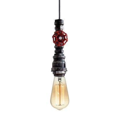 Светильник подвесной LSP-9692 кран водопроводныйПодвесные<br><br><br>Установка на натяжной потолок: Да<br>Крепление: Планка<br>Тип лампы: Накаливания / энергосбережения / светодиодная<br>Тип цоколя: E27<br>Количество ламп: 1<br>MAX мощность ламп, Вт: 60<br>Диаметр, мм мм: 100<br>Высота, мм: 1800<br>Цвет арматуры: черный