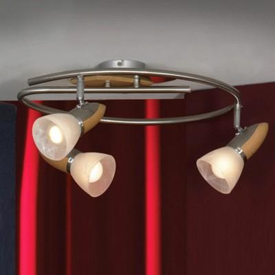 Светильник Lussole lsq-6411-03Тройные<br>Светильники-споты – это оригинальные изделия с современным дизайном. Они позволяют не ограничивать свою фантазию при выборе освещения для интерьера. Такие модели обеспечивают достаточно качественный свет. Благодаря компактным размерам Вы можете использовать несколько спотов для одного помещения.  Интернет-магазин «Светодом» предлагает необычный светильник-спот Lussole LSQ-6411-03 по привлекательной цене. Эта модель станет отличным дополнением к люстре, выполненной в том же стиле. Перед оформлением заказа изучите характеристики изделия.  Купить светильник-спот Lussole LSQ-6411-03 в нашем онлайн-магазине Вы можете либо с помощью формы на сайте, либо по указанным выше телефонам. Обратите внимание, что у нас склады не только в Москве и Екатеринбурге, но и других городах России.<br><br>S освещ. до, м2: 8<br>Тип лампы: накал-я - энергосбер-я<br>Тип цоколя: E14<br>Количество ламп: 3<br>MAX мощность ламп, Вт: 40<br>Диаметр, мм мм: 400<br>Высота, мм: 200<br>Цвет арматуры: деревянный