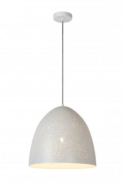 Lucide ETERNAL 03414/40/31 подвесной светильникОжидается<br><br><br>S освещ. до, м2: 3<br>Тип цоколя: E27<br>Цвет арматуры: белый<br>Количество ламп: 1<br>Ширина, мм: 400<br>Высота, мм: 450