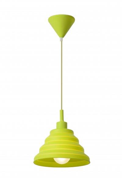 Светильник Lucide 08407/24/85одиночные подвесные светильники<br><br><br>S освещ. до, м2: 2<br>Тип лампы: Накаливания / энергосбережения / светодиодная<br>Тип цоколя: E27<br>Цвет арматуры: зеленый (зеленое яблоко)<br>Количество ламп: 1<br>Диаметр, мм мм: 240<br>Высота, мм: 1400<br>MAX мощность ламп, Вт: 40