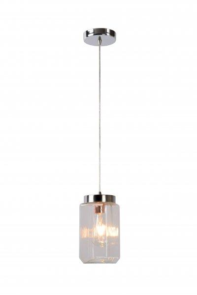 Светильник Lucide 08412/01/60одиночные подвесные светильники<br><br><br>S освещ. до, м2: 3<br>Тип лампы: Накаливания / энергосбережения / светодиодная<br>Тип цоколя: E27<br>Цвет арматуры: серебристый хром<br>Количество ламп: 1<br>Диаметр, мм мм: 110<br>Высота, мм: 1200<br>MAX мощность ламп, Вт: 60