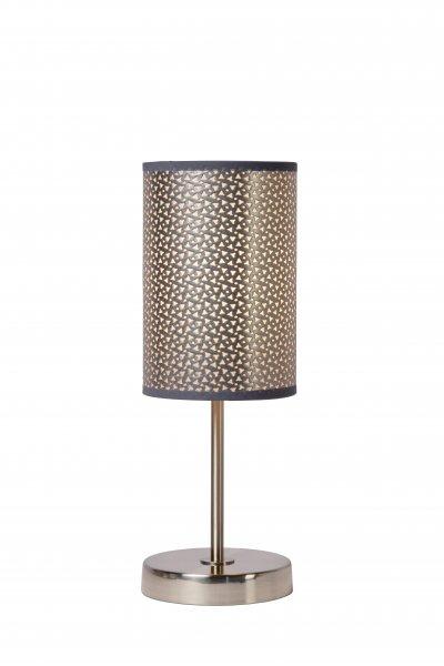 Светильник Lucide 08500/81/36Современные настольные лампы модерн<br><br><br>Тип лампы: Накаливания / энергосбережения / светодиодная<br>Тип цоколя: E27<br>Цвет арматуры: серебристый хром<br>Количество ламп: 1<br>Диаметр, мм мм: 130<br>Высота, мм: 380<br>MAX мощность ламп, Вт: 60