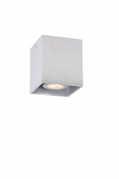 Светильник Lucide 09101/01/12накладные точечные светильники<br><br><br>S освещ. до, м2: 3<br>Тип лампы: галогенная/LED<br>Тип цоколя: GU10<br>Цвет арматуры: серебристый<br>Ширина, мм: 82<br>Длина, мм: 82<br>Высота, мм: 95<br>MAX мощность ламп, Вт: 50