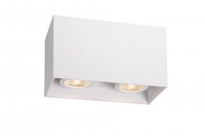 Светильник Lucide 09101/02/31накладные точечные светильники<br><br><br>S освещ. до, м2: 5<br>Тип лампы: галогенная/LED<br>Тип цоколя: GU10<br>Количество ламп: 2<br>Ширина, мм: 82<br>Длина, мм: 165<br>Высота, мм: 95<br>MAX мощность ламп, Вт: 50