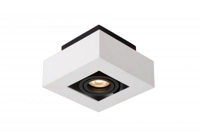 Светильник Lucide 09119/05/31накладные точечные светильники<br><br><br>S освещ. до, м2: 2<br>Тип лампы: галогенная/LED<br>Тип цоколя: GU10<br>Количество ламп: 1<br>Ширина, мм: 140<br>Длина, мм: 140<br>Высота, мм: 80<br>MAX мощность ламп, Вт: 5