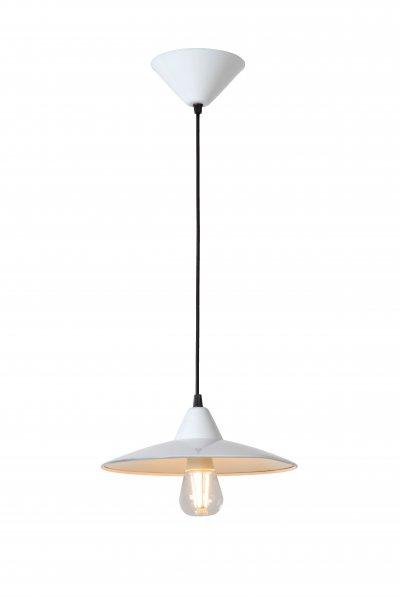 Светильник Lucide 11400/08/31одиночные подвесные светильники<br><br><br>S освещ. до, м2: 3<br>Тип лампы: Накаливания / энергосбережения / светодиодная<br>Тип цоколя: E27<br>Количество ламп: 1<br>Диаметр, мм мм: 270<br>Высота, мм: 150 - 1400<br>MAX мощность ламп, Вт: 60