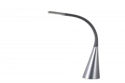 Светильник Lucide 18655/04/36Настольные лампы хай тек<br><br><br>Тип лампы: LED - светодиодная<br>Тип цоколя: LED, встроенные светодиоды<br>Цвет арматуры: серебристый<br>Количество ламп: 1