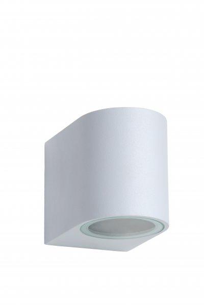 Светильник Lucide 22861/05/31Уличные настенные светильники<br><br><br>Тип лампы: галогенная/LED<br>Тип цоколя: GU10<br>Количество ламп: 1<br>Ширина, мм: 65<br>Длина, мм: 90<br>Высота, мм: 80