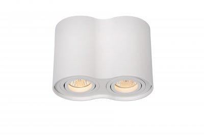 Светильник Lucide 22952/02/31Накладные точечные<br><br><br>S освещ. до, м2: 5<br>Тип лампы: галогенная/LED<br>Тип цоколя: GU10<br>Количество ламп: 2<br>Ширина, мм: 96<br>Длина, мм: 177<br>Высота, мм: 125<br>MAX мощность ламп, Вт: 50